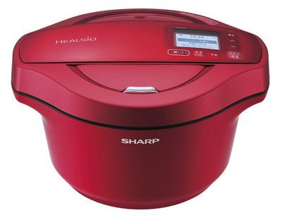 SHARP KN-HW24C-R レッド系 ヘルシオ ホットクック [水なし自動調理鍋(2.4L)]