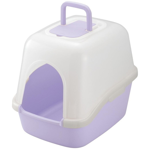 Richell NEWコロル フード付ネコトイレ 紫
