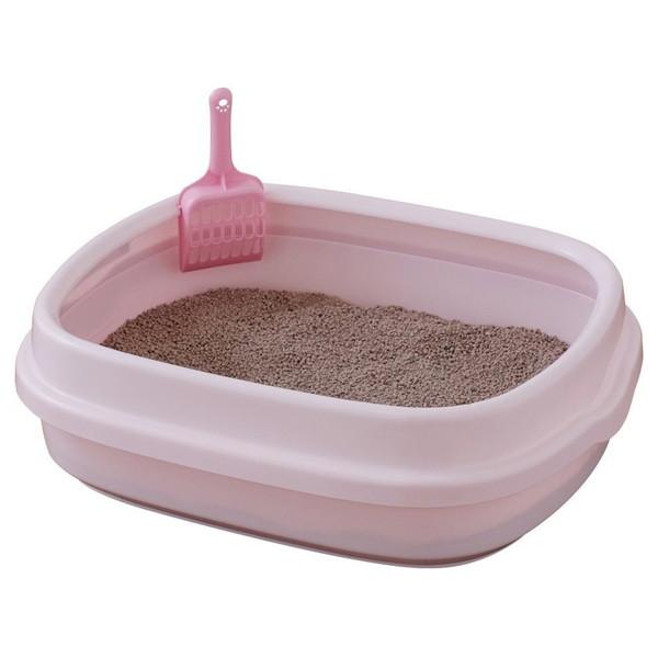 アイリスオーヤマ NE-550 ネコのトイレ ミルキーピンク