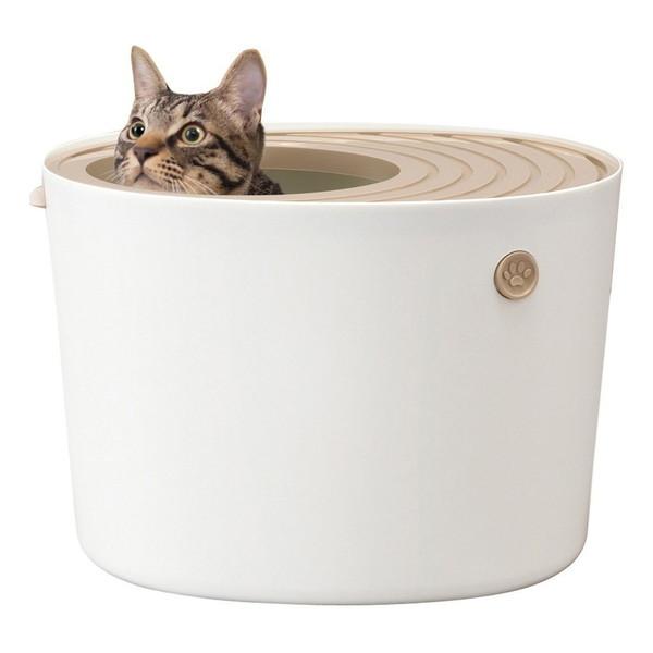 アイリスオーヤマ PUNT-430 ホワイト [上から猫トイレ プチ]