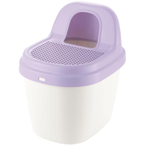 Richell コロル 砂取りネコトイレ 紫