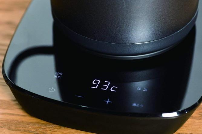 温度調節、保温ができるワンタッチボタン