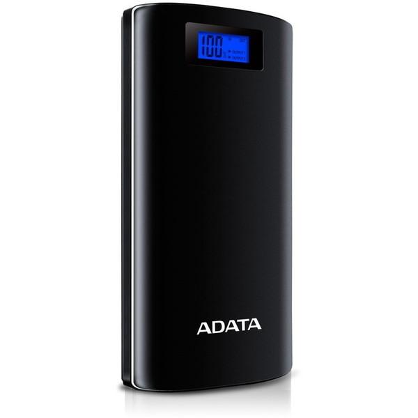 A-DATA AP20000D-DGT-5V-CBK ブラック Power Bank [ライト付きモバイルバッテリー(20000mAh・micro USB対応・USB給電)]