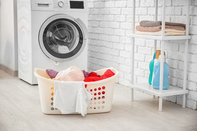 ドラム式洗濯機を使っている写真