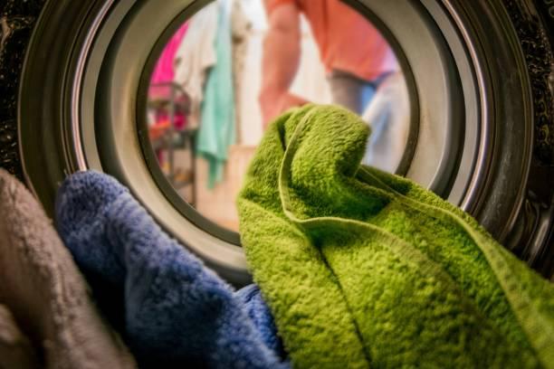 洗濯機の中の洗濯物