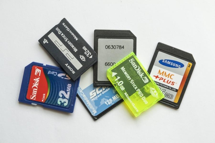 容量が違うSDカード