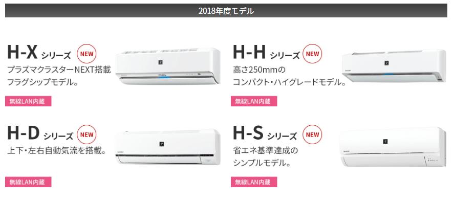 2018年モデルHシリーズ