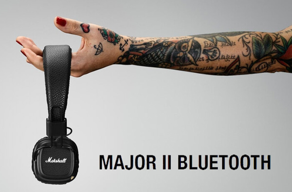 Marshall HEADPHONESのワイヤレスヘッドホン「Major II Bluetooth」