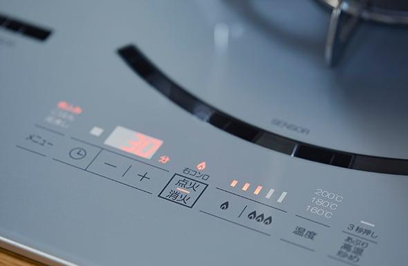 パロマ AVANCE(アバンセ):見やすく操作しやすいタッチスイッチ